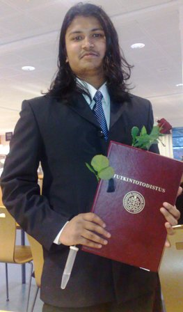 Santosh Kalwar's, MSc. Graduation ceremony